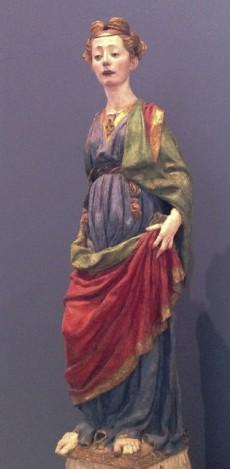 """Antonio del Pollaiolos s""""Personifikationa av en dygd"""" från Bodes-museum. Alltså handen som håller i tyget..."""